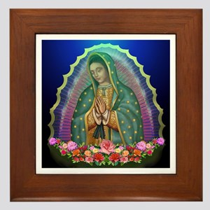 Our Lady Of Guadalupe Framed Tiles Cafepress