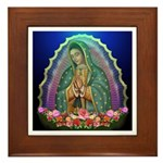 Guadalupe Glow Framed Tile