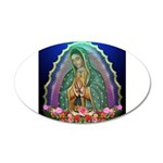 Guadalupe Glow 20x12 Oval Wall Decal