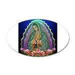 Guadalupe Glow 35x21 Oval Wall Decal