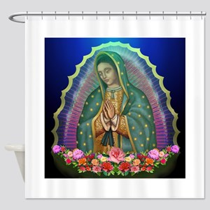 Guadalupe Glow Shower Curtain