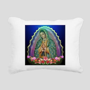 Guadalupe Glow Rectangular Canvas Pillow