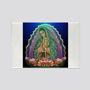 Guadalupe Glow Rectangle Magnet