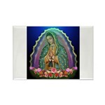 Guadalupe Glow Rectangle Magnet (100 pack)