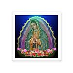 Guadalupe Glow Square Sticker 3