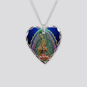 Guadalupe Glow Necklace Heart Charm