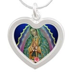 Guadalupe Glow Silver Heart Necklace