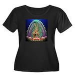 Guadalupe Glow Women's Plus Size Scoop Neck Dark T