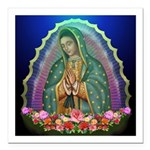 Guadalupe Glow Square Car Magnet 3