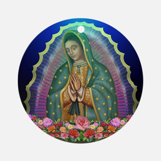 Guadalupe Glow Ornament (Round)