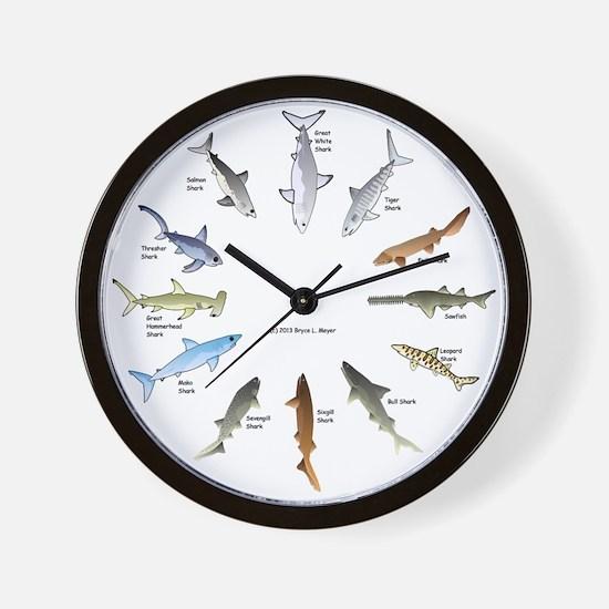 Shark Clock Two Wall Clock
