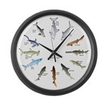 Shark Clock Two Large Wall Clock