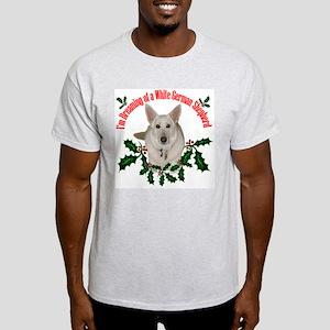 White German Shepherd Ash Grey T-Shirt