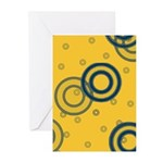 Yellow Swirls Blank Greeting Cards (Pk of 10)