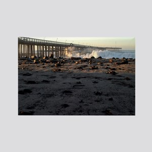 Ventura Pier Sturm Wave Rectangle Magnet