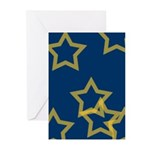 Gold Stars Greeting Cards (Pk of 10)