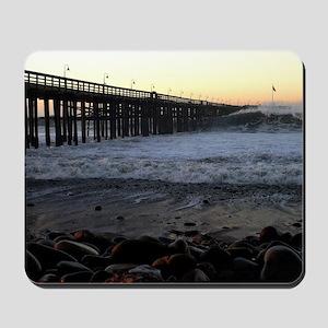 Ocean Wave Storm Pier Mousepad