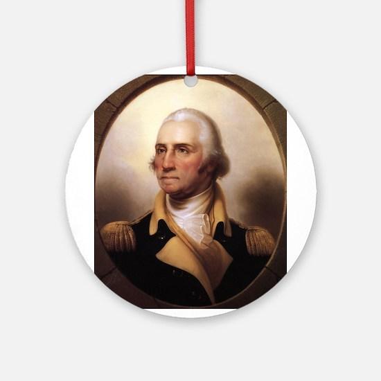 Washington Portrait Ornament (Round)