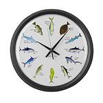 Southern California Sportfishing Clock Large Wall