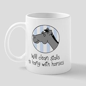 cute horse clean stalls Mug