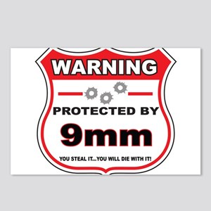 protected by 9mm shield Postcards (Package of 8)