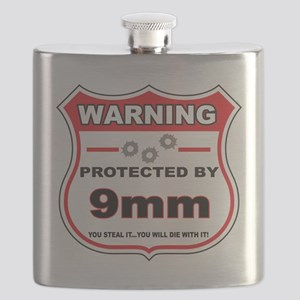 protected by 9mm shield Flask