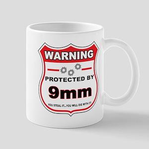 protected by 9mm shield Mug