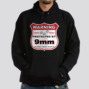 protected by 9mm shield Hoodie