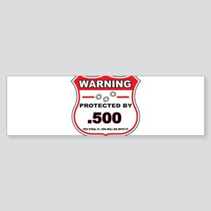 protected by 500 shield Bumper Sticker