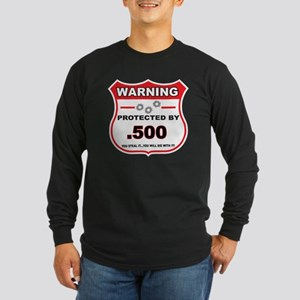 protected by 500 shield Long Sleeve T-Shirt