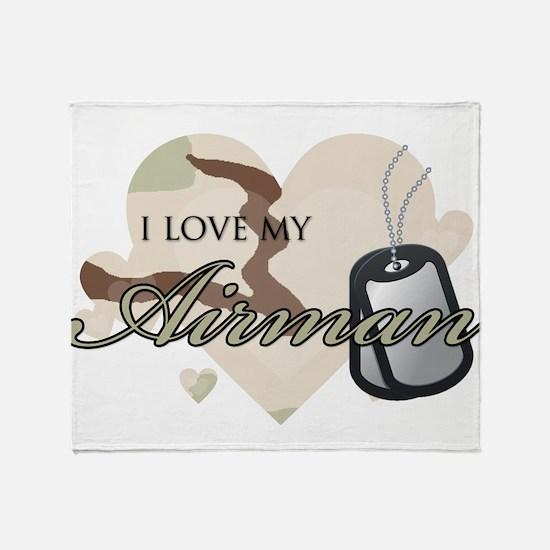 Desert Camo Hearts - AF Throw Blanket