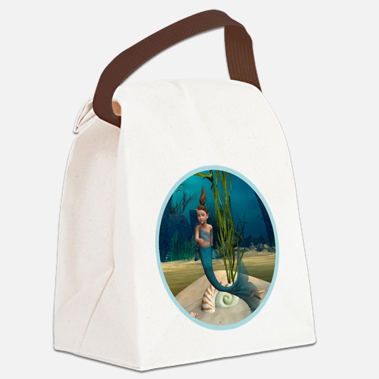 Little Mermaid Canvas Lunch Bag