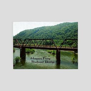 Harpers Ferry Bridge 5'x7'Area Rug