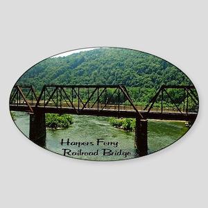 Harpers Ferry Bridge Sticker (Oval)