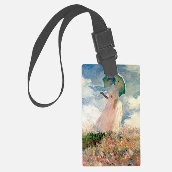 Monet study of a figure a figure Luggage Tag