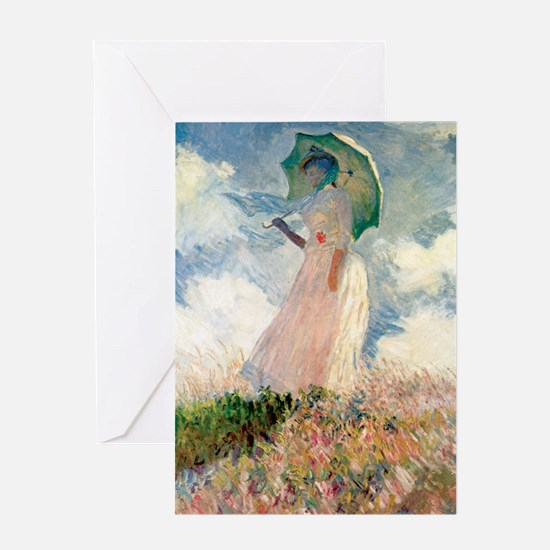 Monet study of a figure a figure out Greeting Card
