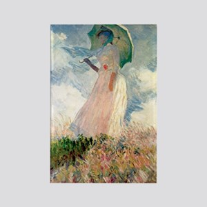 Monet study of a figure a figure  Rectangle Magnet