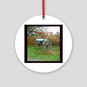 Gettysburg Cannon Ornament (Round)