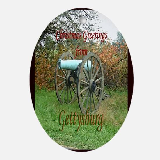 Gettysburg Cannon Oval Ornament