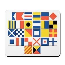 Nautical Flags Mousepad
