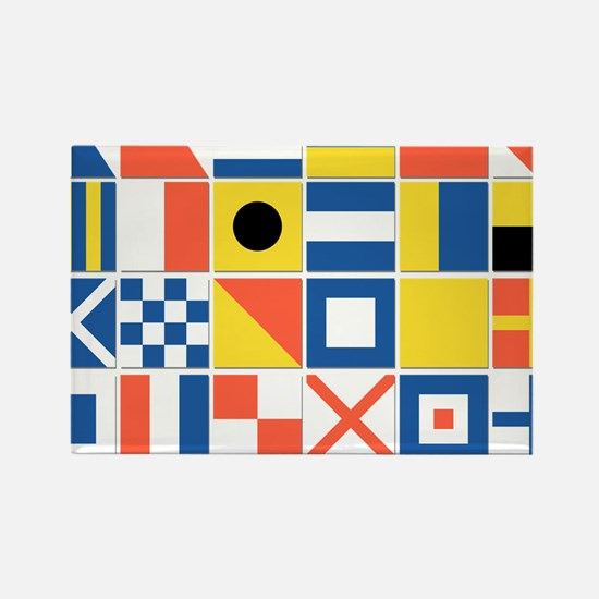 Nautical Flags Rectangle Magnet