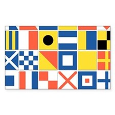 Nautical Flags Sticker (Rectangle)