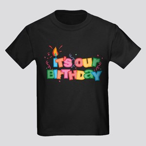 It's Our Birthday Letters Kids Dark T-Shirt