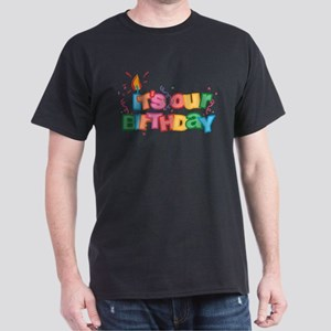It's Our Birthday Letters Dark T-Shirt