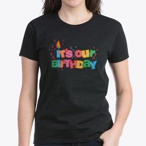 It's Our Birthday Letters Women's Dark T-Shirt