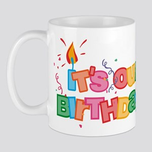 It's Our Birthday Letters Mug