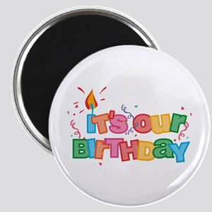 It's Our Birthday Letters Magnet