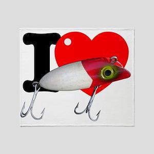 I Heart Bass Fishing Throw Blanket