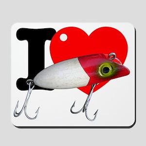 I Heart Bass Fishing Mousepad