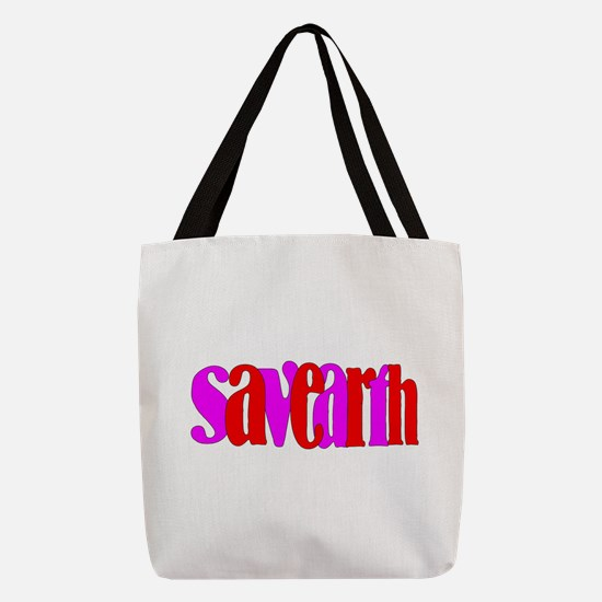 unique save the earth Polyester Tote Bag